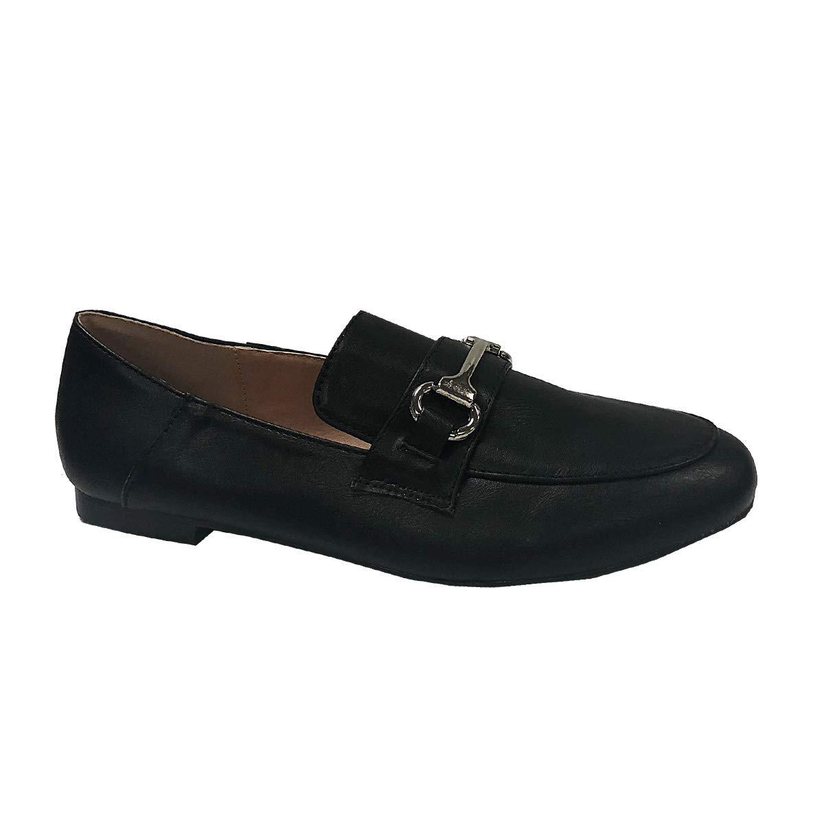Yoki Womens Buckle Suede CHASLIE-15 Slip-on Flat Loafers