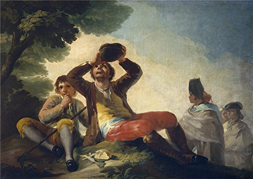 Oil Painting 'Goya Y Lucientes Francisco De The Drinker 1776', 12 x 17 inch / 30 x 43 cm , on High Definition HD canvas prints is for Gifts And - Myer Fountain Gate