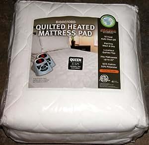 Amazon Com Biddeford Quilted Heated Mattress Pad Queen