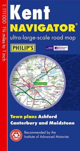 Philip's Kent Navigator Road Map (Philip's Navigator)