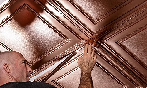 Decorative Grid Strips For Ceiling Tiles (Pack of 25) (Faux Copper)