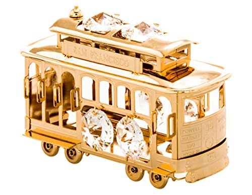 San Francisco Cable Car 24k Gold Plated Figurine with Swarovski ()