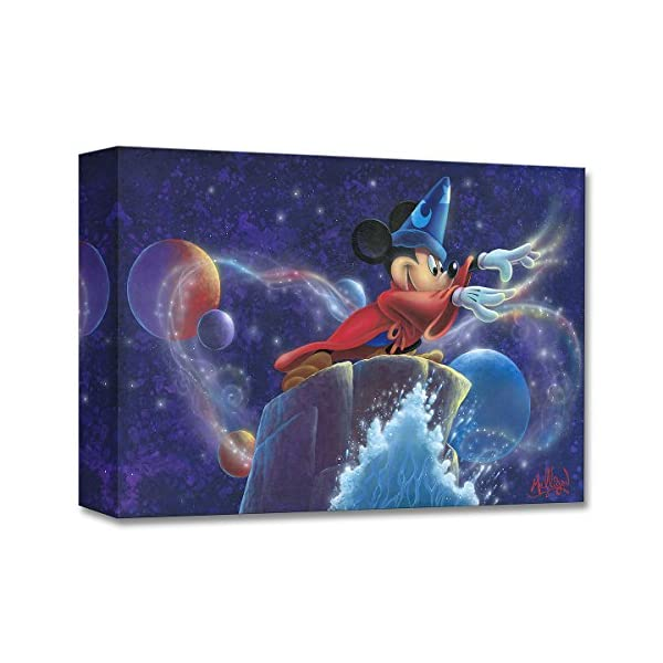 Disney Fine Art Mickey's Magic – Treasures on Canvas Fantasia Mickey Mouse Gallery Wrapped Canvas Wall Art by James C. Mulligan