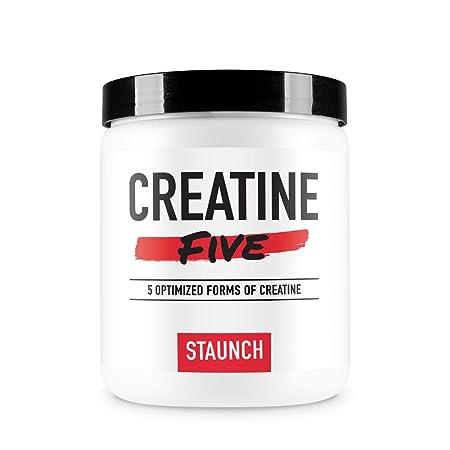 Staunch Creatine Five Creatine Powder Unflavored 50 Servings – Creatine Monohydrate, MagnaPower, Tri-Creatine Malate, Creatine Pyruvate, and Creatine Anhydrous