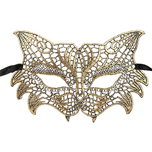 (Coerni Top Fashion Sexy Venetian Halloween Lace Masquerade Catwoman Charming Mask 3 Color)