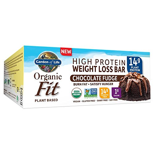 Garden of Life Organic Fit Bar, Chocolate Fudge, 12 Count