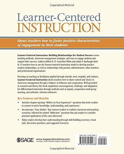 Learner Centered Instruction Building Relationships For Student
