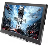 cocopar 13.3 inch Portable monitor 16:9 HDMI/VGA 1920X1080 PS3/PS4/xbox360/one 1080P LED display game monitor for Raspberry Pi (weight636g,thickness 15mm)