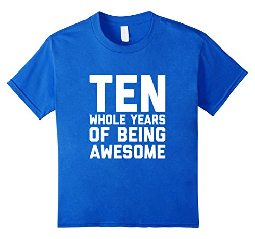 Kids 10th Birthday Shirt Gift Age 10 Year Old Boy Girl Tshirt Tee 12 Royal Blue