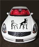 Pitbull Dogs Animal Cute Design Hood Vinyl Sticker Decals A324
