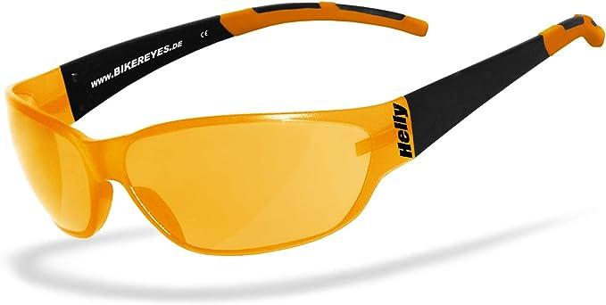 Bikerbrille H-FLEX/®- unzerbrechlich beschlagfrei Helly/® Brille: moab 4 Brillengestell: schwarz matt No.1 Bikereyes/® HLT/® Kunststoff-Sicherheitsglas nach DIN EN 166