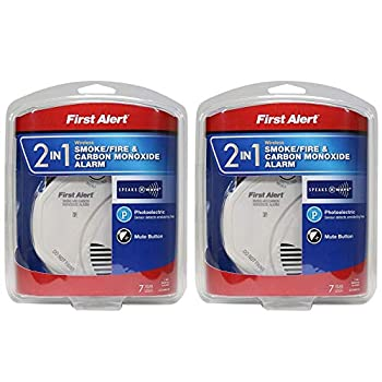 Image of First Alert NBsDH 2-in-1 Z-Wave Smoke Detector & Carbon Monoxide Alarm 2 Pack