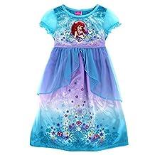 Disney Princess Ariel Girl's Size 8 Fantasy Deluxe Costume Nightgown