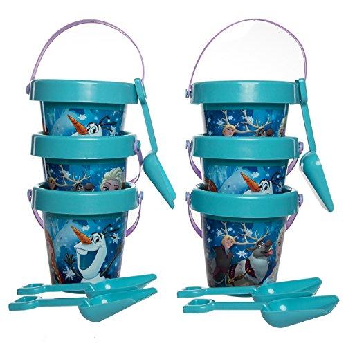 For Olaf Kids Accessory Frozen Kit (Set Of 6 Kids Pails & Shovels Beach Sand Box Digger Toys For Boys Girls)