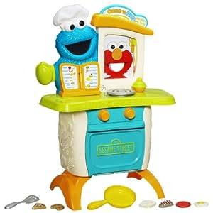 Infantil Playskool Barrio Sésamo Monstruo De Las Galletas Cocina Café Con Elmo Conjunto De Juego