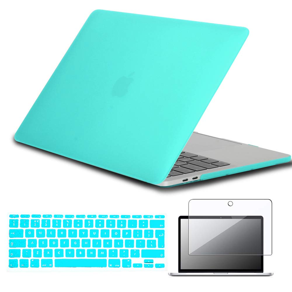 """universal space 02 UK//EU layout Silicone Keyboard Cover Screen Protector FINDING CASE Bundle 3 In 1 for MacBook Pro 13 inch with Touch Bar Case Model: A1989 // A1706,13.3/"""" Rubberized Matte Case"""