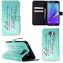 Note 5 Case, Galaxy Note 5 Wallet Leather Case,Maoerdo [Signature] Built-in Card Slots Folio Flip Kickstand Feature Magnetic Premium Leather Wallet Case Cover for Samsung Galaxy Note 5