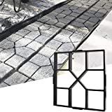 "paver patio designs 15.7""x15.7""x1.57"" Walk Maker Reusable Concrete Path Maker Molds Stepping Stone Paver Lawn Patio Yard Garden DIY Walkway Pavement Paving Moulds (Square)"