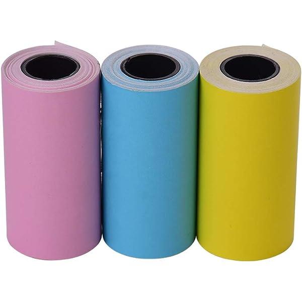 Leslaur Rollo de papel térmico en color 57 * 30 mm (2.17 * 1.18in ...