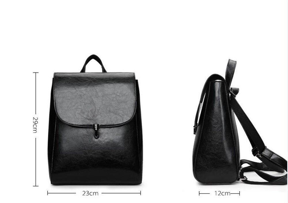 SJMMBB Multi-Functional Backpack Fashion Student Bag,Black,29X23X12Cm by SJMMBB (Image #5)