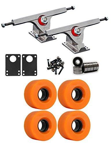 Caliber Raw Longboard Trucksホイールパッケージ56 mm x 31 mm 83 a 811 Cオレンジ [並行輸入品]   B078WTMVF6