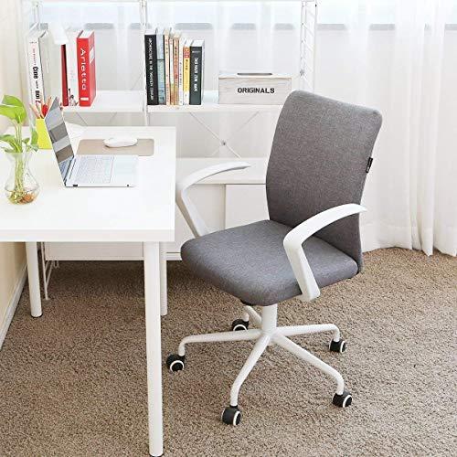 Hbada Office Desk Fabric Reception Chair, Grey ()