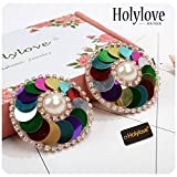 Nipplecovers Sticker Bra Pasties Adhesive Breast Petals for Women Lingerie Accessories Beach Swim Pool Novelty Exotic Apparel Colorful 2pcs with Gift Box - BN12 Colorful