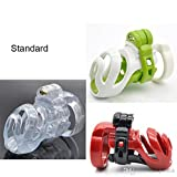Teriya New 3D Design Resin Standard Male Chastity Device Penis Lock Adult Bondage Cock Cage With 4 Size Penis Rings Chastity Belt Sex Toy For Men