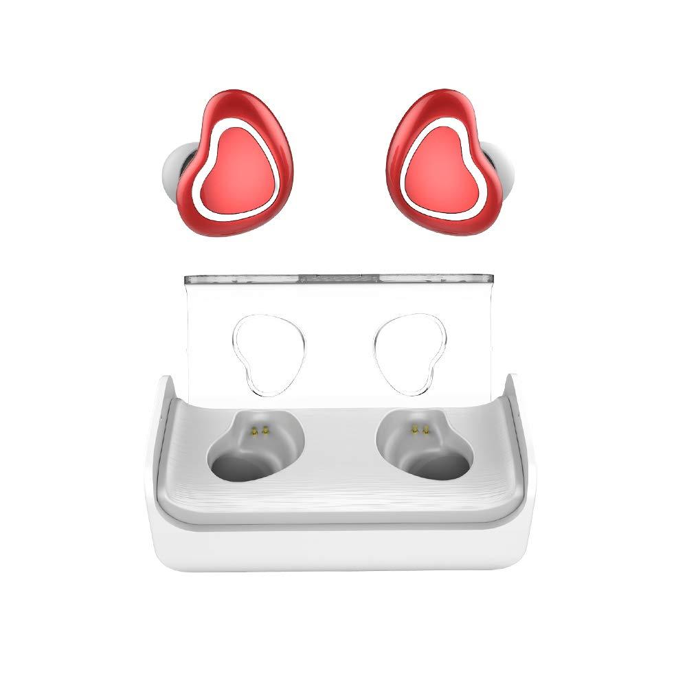 LJXAN Auricular Bluetooth Biauricular Ultra Pequeño Mini Auricular Bluetooth Inalámbrico Whea Negocio Mini Stealth Bluetooth Auricular Auricular Reducción de Ruido Trigo Biauricular