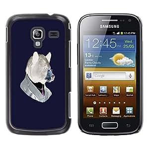 Be Good Phone Accessory // Dura Cáscara cubierta Protectora Caso Carcasa Funda de Protección para Samsung Galaxy Ace 2 I8160 Ace II X S7560M // Funny Hipster Bear
