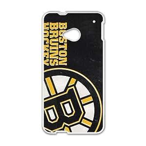 Happy Boston Bruins Hockey Design Fashion Comstom Plastic case cover For HTC One M7