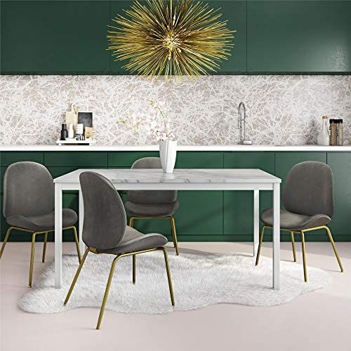 Cosmoliving By Cosmopolitan Greta Dining Table Faux Marble Tables
