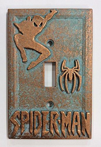 Spiderman Copper/patina/stone Light Switch Cover (Custom) (Copper/Patina)