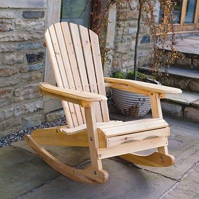 Trueshopping Patio Adirondack Rocking Chair Solid Wood