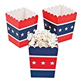 white and blue popcorn bags - Patriotic Popcorn Boxes (24 Pack)