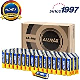 ALLMAX All-Powerful Alkaline Batteries- AA (100-Pack), Ultra Long Lasting, Leakproof, 1.5V Cell