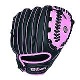 Wilson A200 10'' Tee Ball Glove, Black/Pink - Right Hand Throw