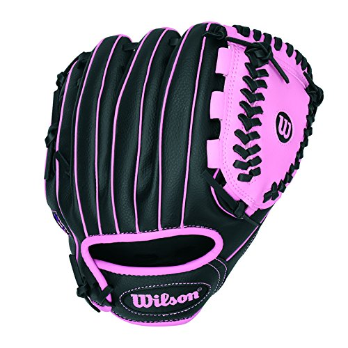 "Wilson A200 10"" Tee Ball Glove, Black/Pink - Right Hand Throw"