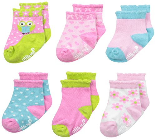 Little Me Baby Girl Socks, 6 Pack