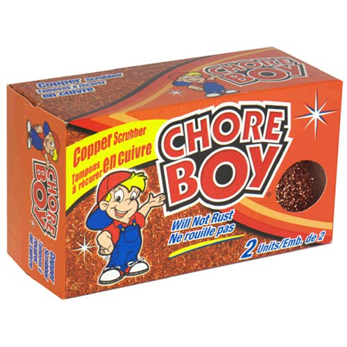 Chore Boy Copper Scrubbers, 2-Count Boxes (Pack of 12)