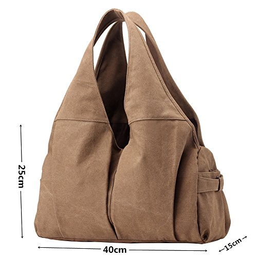 PB Shoulder Women's Handbag Bag Available Brown Slouch Bag Bag Totes Brown 5 Shopper SOAR Canvas Colours Vintage Hobo rfxrqw