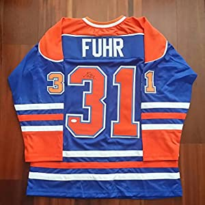 Grant Fuhr Autographed Signed Jersey Edmonton Oilers JSA
