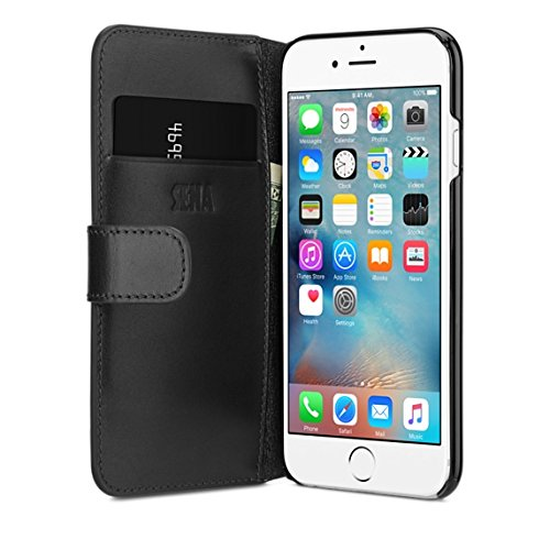 Sena Leather Iphone Cases - Sena Antorini a Thin book style wallet leather case for the iPhone 8 / 7 / 6 (Black)