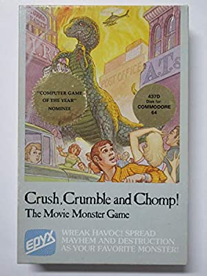 Crush Crumble and Chomp! The Movie Monster Game EPYX 437D Disk for