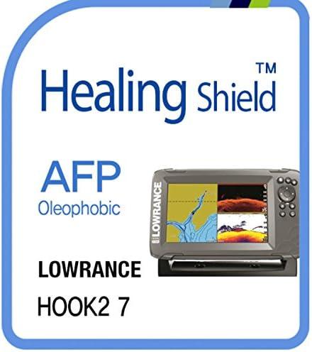 スクリーンプロテクターfor Lowrance、AFP疎油性コーティングスクリーンプロテクタークリアLCDガードHealing Shield Film LOWRANCE HOOK2 7 LOWRANCE