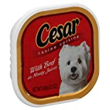 Cesar Canine Cuisine, with Beef in Meaty Juices , 3.5 Oz, (Pack of 10), My Pet Supplies