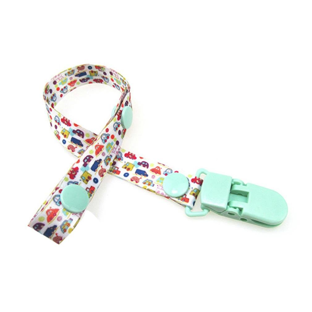 Infant Cartoon Print Pacifier Clips, Palarn Premium Quality Modern Designs Universal Holder Leash for Boys and girls, Teething Toy or Soothie