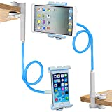 Trellonics Gooseneck Tablet Holder Mount Clamp Stand-360 Degree Rotation Adjustable Hands-free Universal Bracket Cradle Fits all iPads Samsung Kindles Many Others and All Phones inc iPhone Samsung