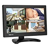 Koolertron 11.6 inch CCTV Monitor 1366768 768P 16:9 TFT LCD Monitor with HDMI/VGA/BNC/AV Audio Speaker Port Support 1080P for DSLR/PC/CCTV Camera/DVD/Car Backup Camera/Home Office Surveillance