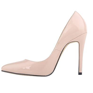 Amazon.com | Loslandifen Womens Shoes Closed Toe High Heels ...